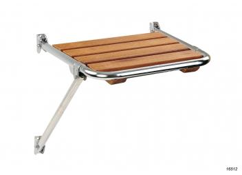 Transom Platform, stainless steel / teak without ladder