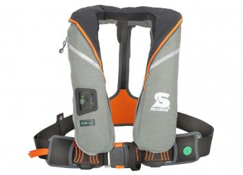 Rettungsweste SURVIVAL220 / grau/orange / 220 N
