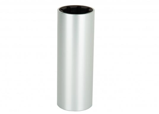 Gummi-Wellenlager metrisch innen, zöllig außen, Aluminium