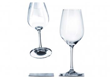 Verre à vin en cristal avec base magnétique / la paire
