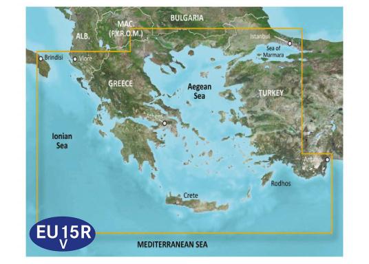 BlueChart G3 EU015R Aegean & Marmara Sea
