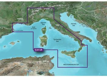 BlueChart G3 EU012R : Méditerranée centrale et occidentale