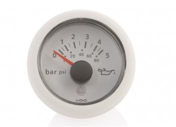 Viewline Druckmesser 0-5 bar / 52 mm / weiß