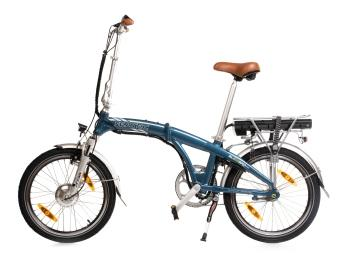 BLIZZARD PRO Electric Folding Bike / blue / with carry bag