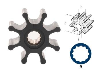 Turbine / néoprène / 8 pales / type 9