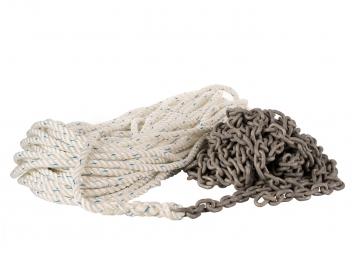 Cima di ancoraggio combinata con anello catena / zincata
