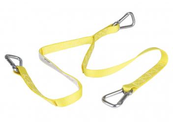 Cintura di sicurezza ombelicale a 3 moschettoni