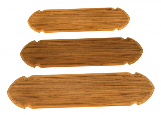 Teak Name Plate / Rounded