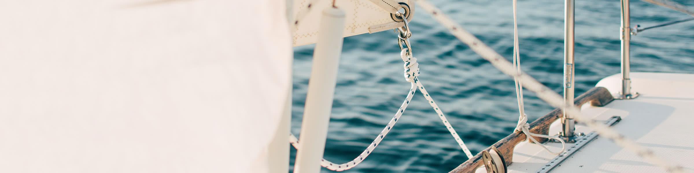 La corde du yacht