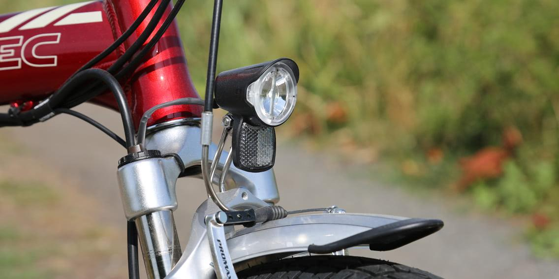 Folding bicycle light