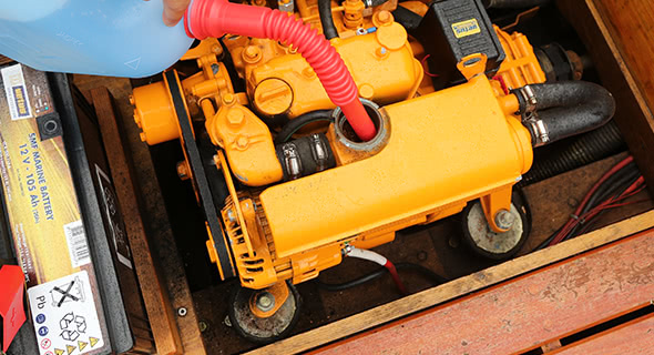 Winterising boat engine cooling systems