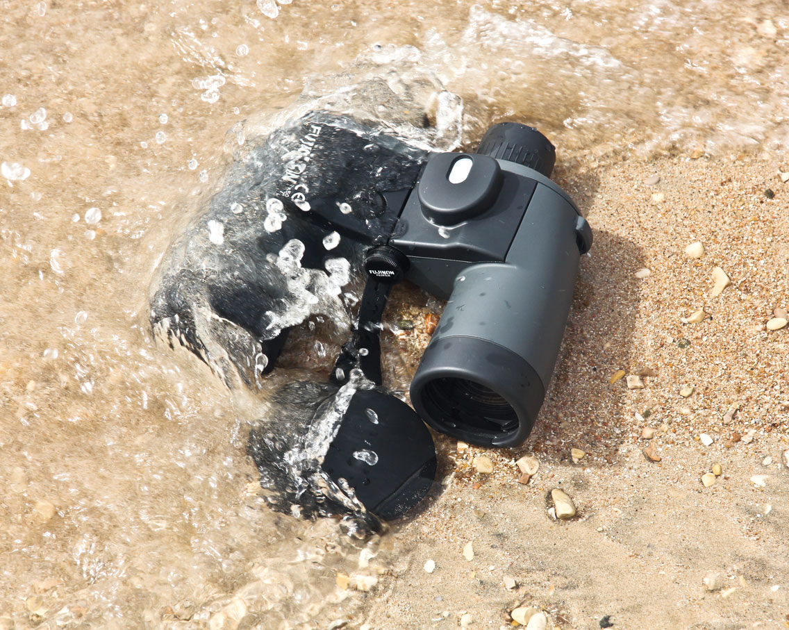 Binoculars in water