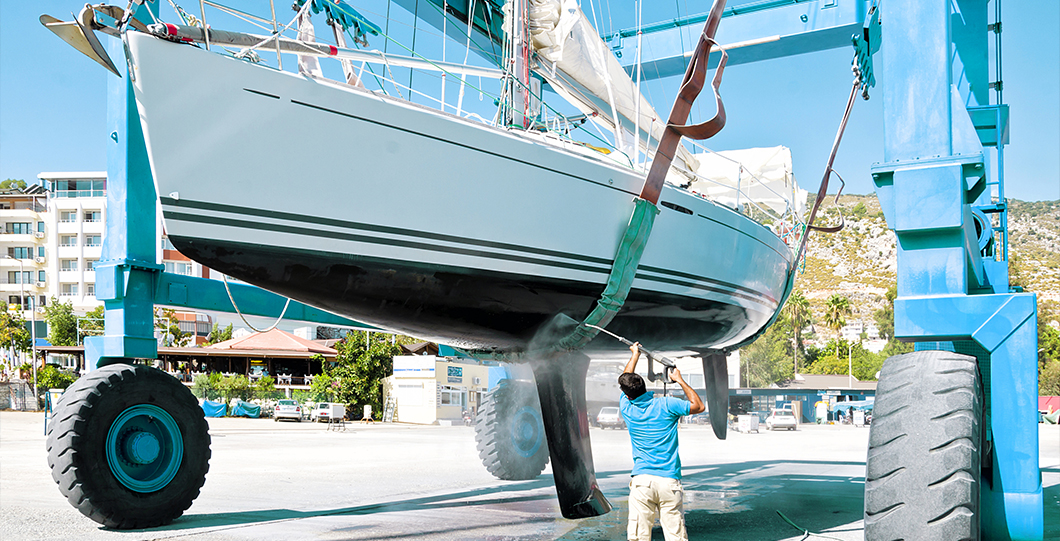 Apply antifouling