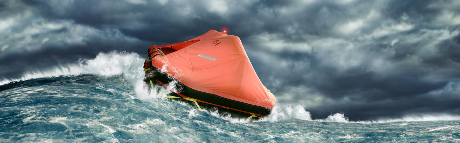 Life rafts for sports boats and sailing yachts