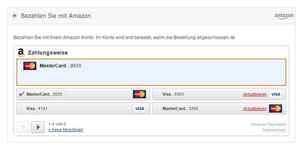 Amazon Payments Zahlart