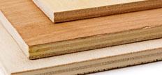 Recortes de madera contrachapada