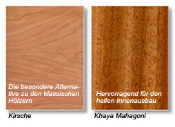 Plywood Decorative Veneers Kirsche and Khaya Mahagoni