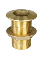 Thru Hull Fitting, Brass CR