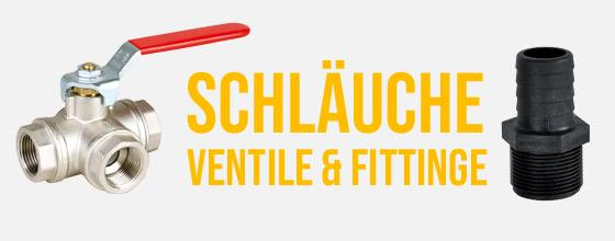 Schläuche, Ventile & Fittinge