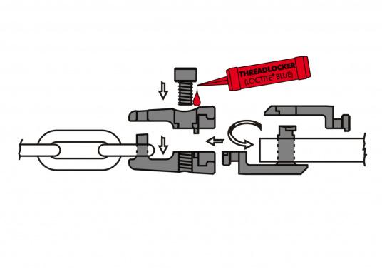 Soluzione di collegamento ideale tra ancora e catena. Realizzato in acciaio inossidabile di ottima qualità. Girevole. Misure in mm. Disponibile in diverse dimensioni e con diversi carichi di rottura.  (Immagine 4 di 4)