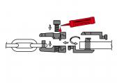 Ketten-/Ankerverbindung mit Wirbel