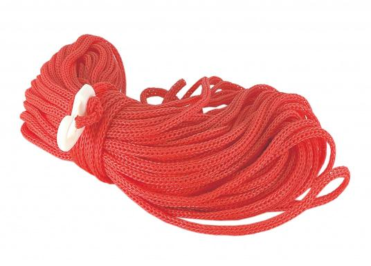 Floatable polypropylene rescue line with nylon hook. Length: 30 m. Available as a 6 mm or 8 mm rope.