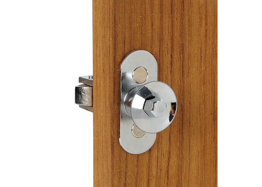 Stabiler Druckschnapper aus verchromtem Messing. Geeignet für Türstärken von 10 bis 25 mm.  (Bild 3 von 3)