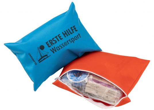 Erste-Hilfe-Set für Hobby und Beruf, bestehend aus einer Reißverschlusstasche aus beschichtetem Nylongewebe mit praxisorientierter Bestückung.  (Bild 2 von 5)
