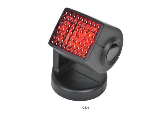 Ideal für Kartentische, Kojen und Sitzecken – der Leuchtkopf kann um 340° gedreht und um 330° geschwenkt werden. Für blendfreies Licht kann eine rote Lichtscheibe angebracht werden. (Bild 3 von 5)
