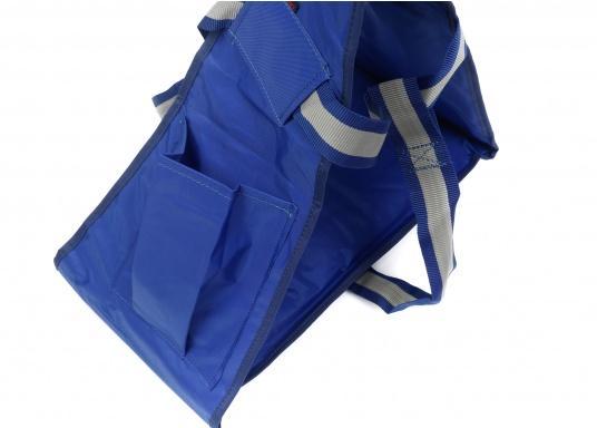 Bootsmannstuhl aus hochwertigen Materialien mit Halteösen und Tasche für Werkzeuge und Reparaturbedarf. Integriertes Sitzbrett für ermüdungsfreies Arbeiten. Völlige Bewegungsfreiheit.  (Bild 2 von 6)