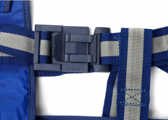Bootsmannstuhl aus hochwertigen Materialien mit Halteösen und Tasche für Werkzeuge und Reparaturbedarf. Integriertes Sitzbrett für ermüdungsfreies Arbeiten. Völlige Bewegungsfreiheit.  (Bild 4 von 6)