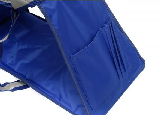Bootsmannstuhl aus hochwertigen Materialien mit Halteösen und Tasche für Werkzeuge und Reparaturbedarf. Integriertes Sitzbrett für ermüdungsfreies Arbeiten. Völlige Bewegungsfreiheit.  (Bild 3 von 6)