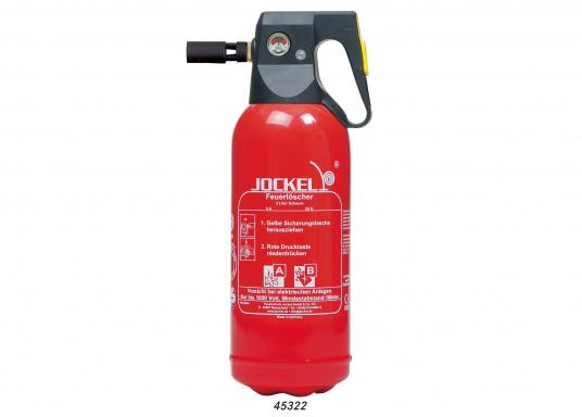 Diese Feuerlöscher verwenden Schaum als Löschmittel. Dies hat den Vorteil, dass der Schaum sehr gezielt auf den Brandherd aufgebracht werden kann und so größere Folgeschäden vermieden werden.