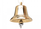 Ship's Bell 200 mm / BSH-approved / polished-brass