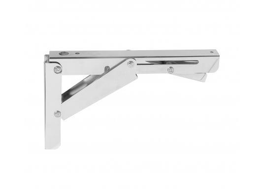 Wenig Platz an Deck? Mit diesem klappbaren Edelstahl-Beschlag für Tisch- oder Arbeitsplatte wird der Raum optimal genutzt. Die Montage ist an glatten Flächen möglich.