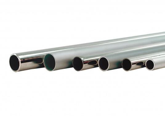 Hier bieten wir Ihnen stabile Rohre aus Edelstahl an. Die Rohre sind biegefähig und in einer maximalen Länge von 6 m erhältlich. Preis per Meter.