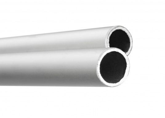 Robust V2A stainless steel pipe with a diameter of 48.3 mm. The pipe can be bent and is availabe in a maximum length of 6 m. Priced per meter.