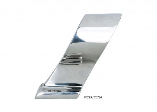 Sehr stabiles Edelstahlendstück in leicht abgeschrägter Form für Rohr-Ø 22 und 25 mm.  (Bild 2 von 3)
