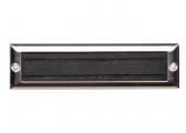 Piastra antiscivolo / 222 x 57 mm / nero