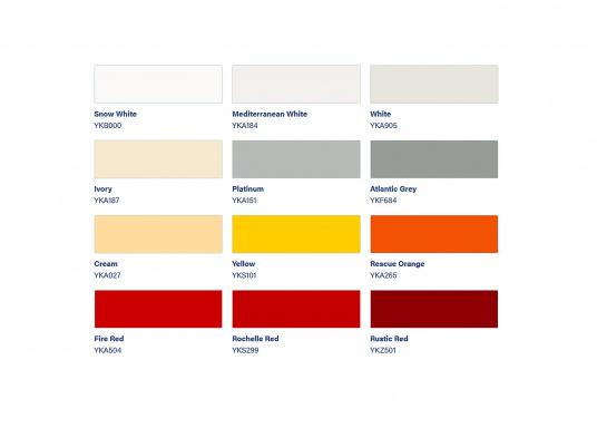 Verbesserter UV-Schutz! TOPLAC bietet ausgezeichnete Verlaufeigenschaften, verbesserte Streichfähigkeit, Glanzerhaltung und Vergilbungsqualität. Erhältlich in verschiedenen Farben.  (Bild 2 von 3)