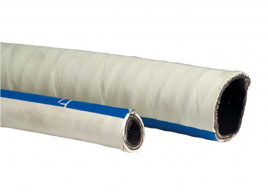Dieser Schlauch bestehtauswiderstandsfähigem, geruchsundurchlässigem Gummi und ist zur Stabilisierungmit einereingearbeitetenStahlspirale ausgestattet. Einsatz: als Abwasserschlauch für Toiletten.Temperaturbereich: -30 °C bis +80 °C. Farbe: weiß.Preis per Meter.
