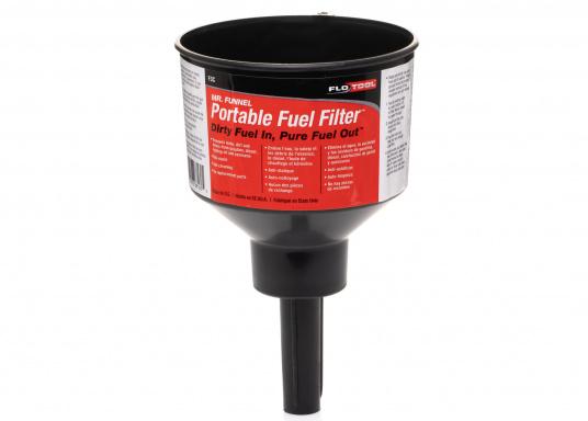 MR. FUNNEL sorgt für sauberen Kraftstoff und lange Lebensdauer für Ihren Motor! Der Treibstoff-Filter filtert Wasser und Verunreinigungen aus Benzin, Diesel, Kerosin und 2-Takt-Gemischen. Erhältlich in drei Ausführungen.