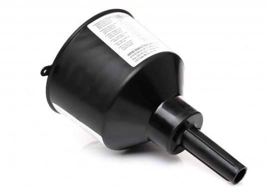 MR. FUNNEL sorgt für sauberen Kraftstoff und lange Lebensdauer für Ihren Motor! Der Treibstoff-Filter filtert Wasser und Verunreinigungen aus Benzin, Diesel, Kerosin und 2-Takt-Gemischen. Erhältlich in drei Ausführungen.  (Bild 3 von 6)