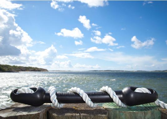 Per proteggere cima e barca! Compensatore di ormeggi in gomma di alta qualità. Facile regolazione della durezza desiderata variando il numero di giri della cima.  (Immagine 3 di 3)