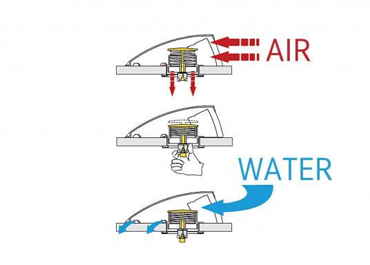 Boîte dorade profilée et polyamide. Résiste aux impacts et aux UVs. Ouverture depuis l'intérieur. Agit comme aérateur et extracteur. (Image 4 de 10)