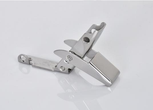 Robuster Hebelverschluss mit Löchern für ein Bügelschloss. Material: Edelstahl A4.  (Bild 4 von 5)