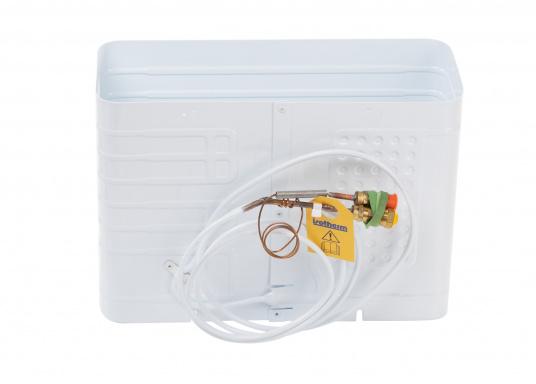 Das Isotherm-SP-Aggregat ist ein neues System, das direkt vom Außenwasser gekühlt wird. Dies bedeutet, dass die Kühleffektivität völlig unabhängig von der Lufttemperatur im Boot ist. (Bild 2 von 5)