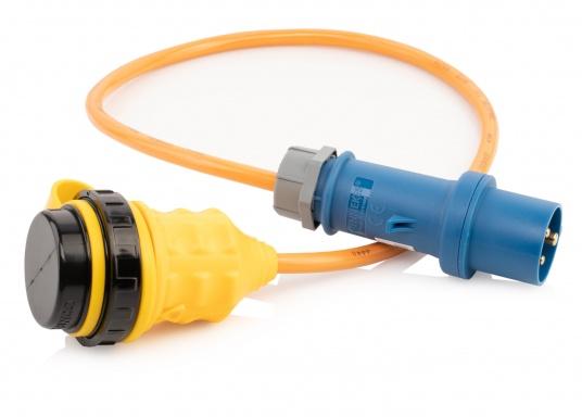 Adapterkabel von CEE- auf NEMA-Norm. Stabile, ölbeständige Ausführung mit Ringverschluss. Belastbarkeit: 16 Ampere. (Bild 2 von 3)