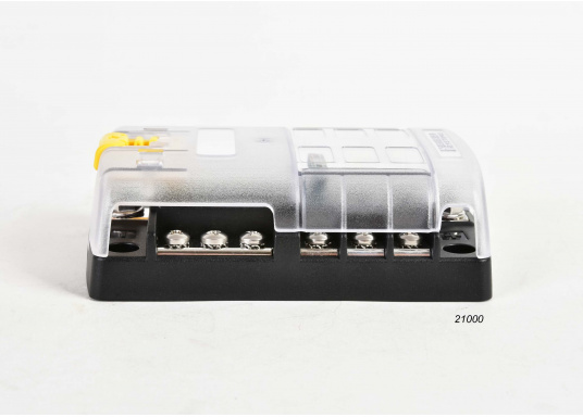 Compact fuse, connection and junction box for6 positions. Position capacity up to 30 A. max. system capacity 100 A. The fuse block also serves as distributor systemfor the ground line.  (Image 4 of 5)