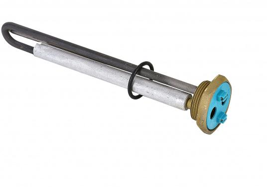 SIGMAR - Heizelement 800 W / 220 V für Warmwasser-Boiler. Dieses Heizelement passt in die Warmwasser-Boiler aus unserem Sortiment. Es ist speziell für den Einsatz in Druckwasser-Systemen vorgesehen.